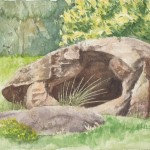 Stone Boulder (Watercolour)