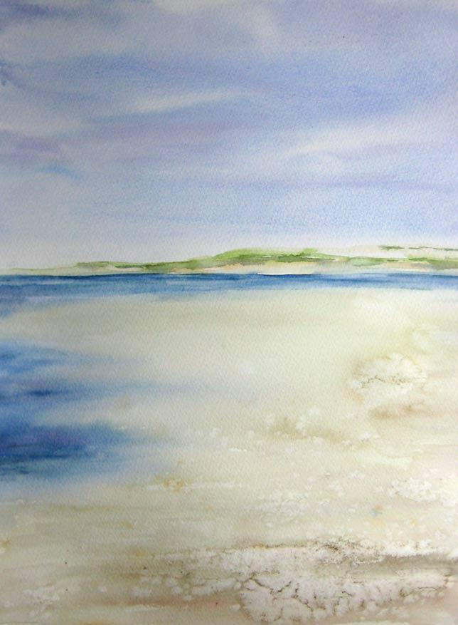 Brancaster Beach (Watercolour)