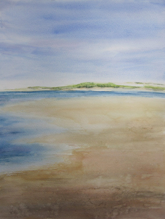 Brancaster Beach (Watercolour)