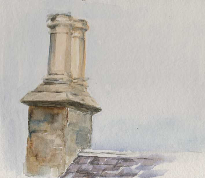 Chimney Pots (Watercolour)