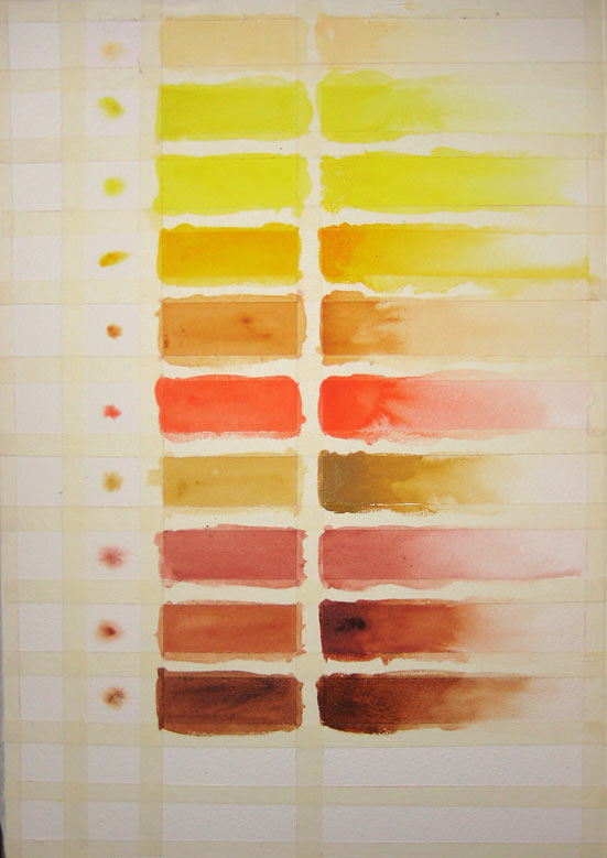Reference Colour Swatches (Watercolour)