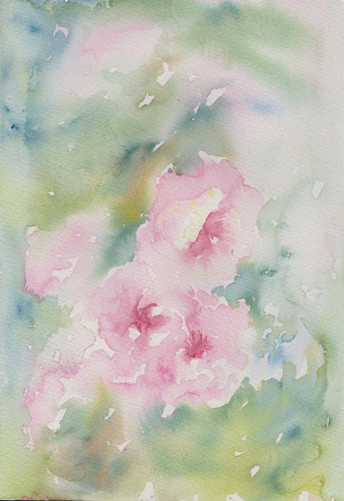 Ornamental Plum Blossom (Watercolour)