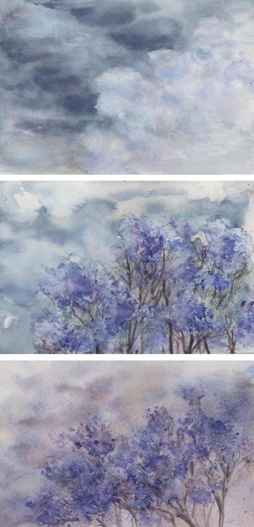 Jacaranda Storms (Watercolour)