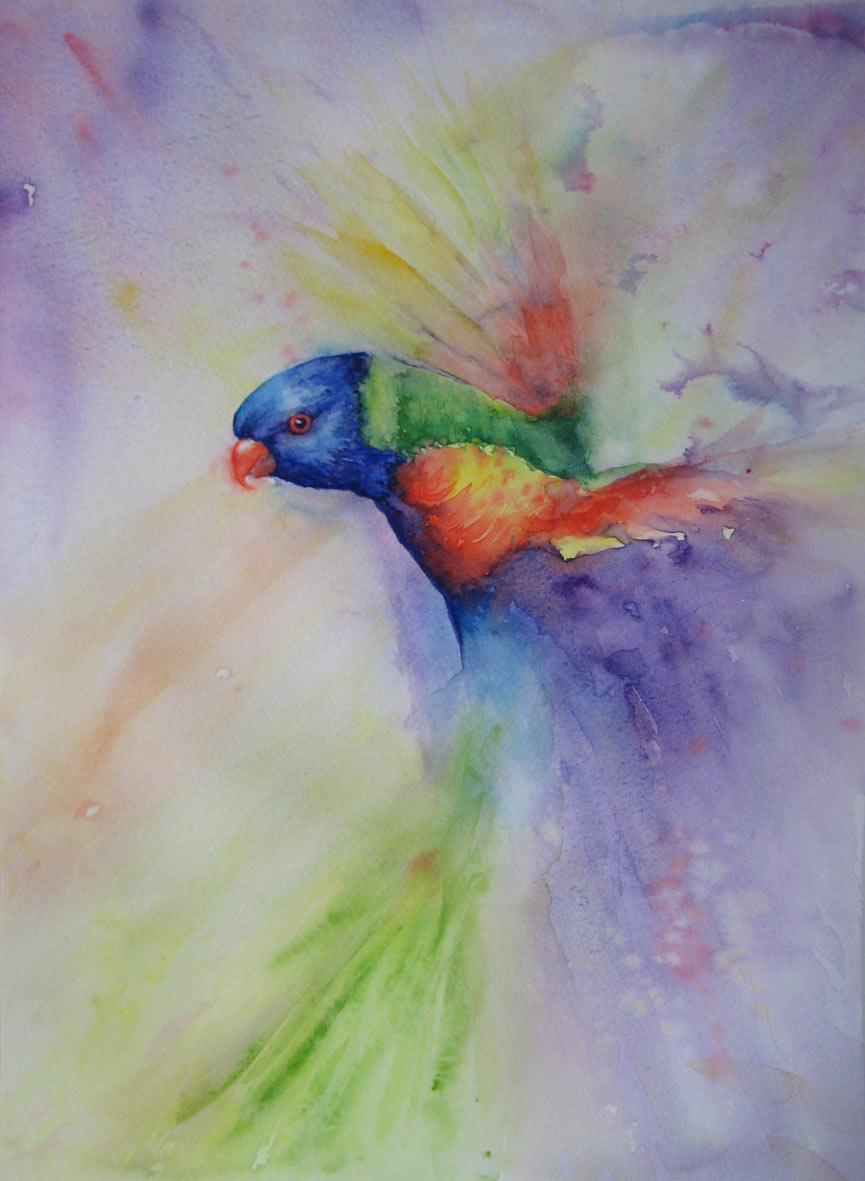 Technicolor - Rainbow Lorikeet (Watercolour)