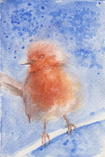 Robin Christmas Card (Watercolour)