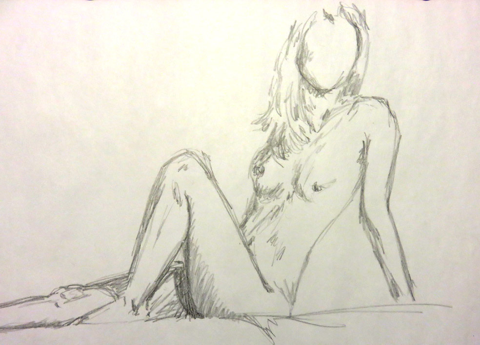 Life Drawing, speed sketches (graphite)