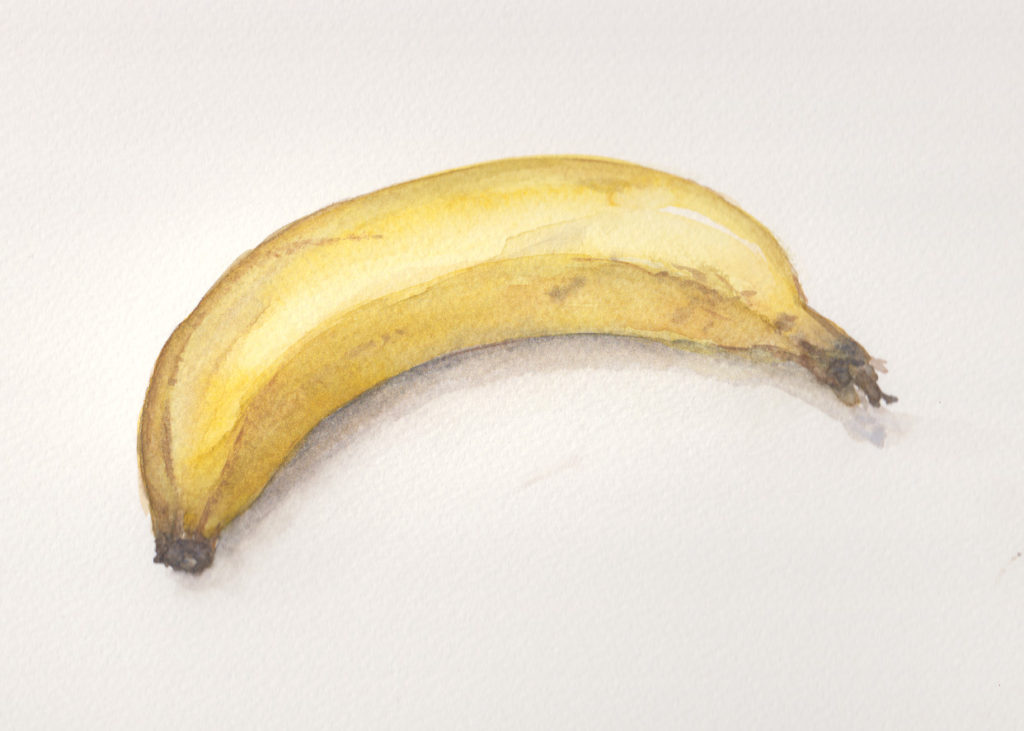 Challenge Day 2: Banana (Watercolour)