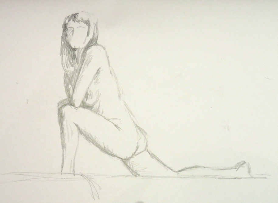 Life Drawing - Ruby (1)